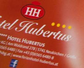 Konzept und Grafik-Design des neuen Hotel Hubertus Prospektes. Zusammenarbeit mit GFB Hotel Tourismus Consulting